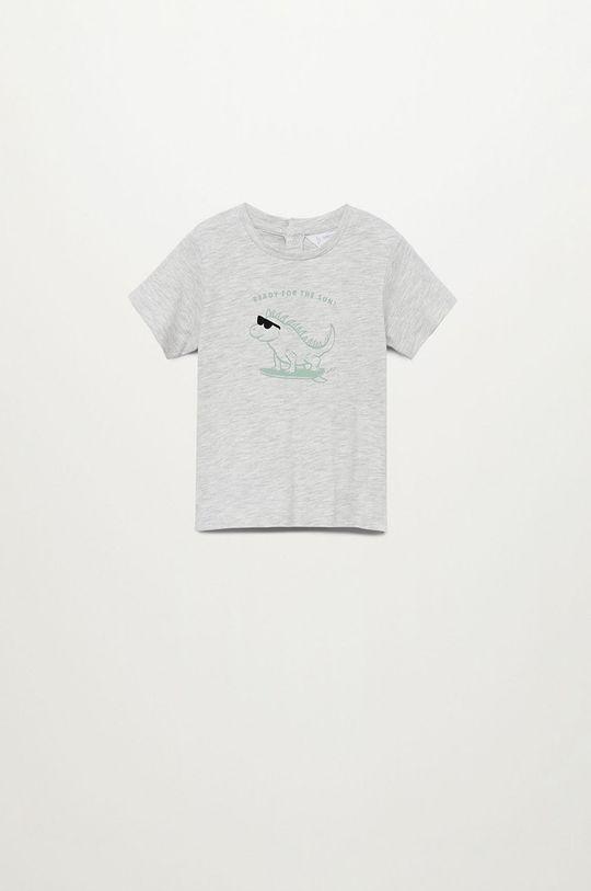 szary Mango Kids - T-shirt dziecięcy Ready 80-104 cm Chłopięcy