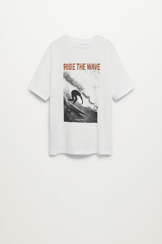 biały Mango Kids - T-shirt dziecięcy Cali 116-164 cm Chłopięcy
