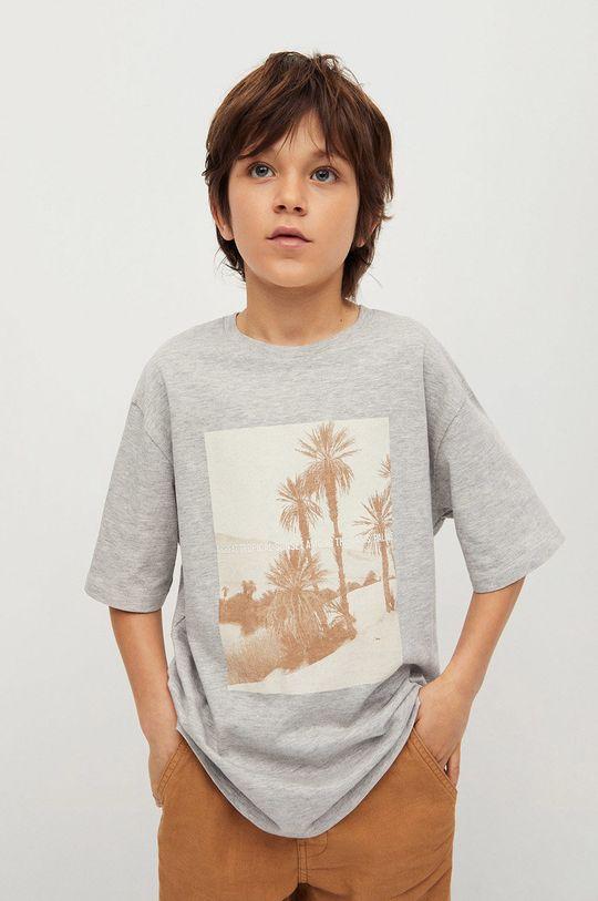 sivá Mango Kids - Detské tričko Sunset 116-164 cm Chlapčenský