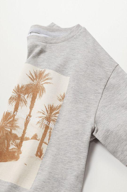 sivá Mango Kids - Detské tričko Sunset 116-164 cm