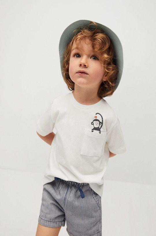 biały Mango Kids - T-shirt dziecięcy Amelio 80-104 cm Chłopięcy