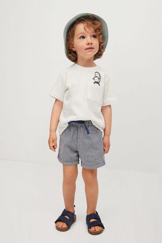Mango Kids - T-shirt dziecięcy Amelio 80-104 cm biały