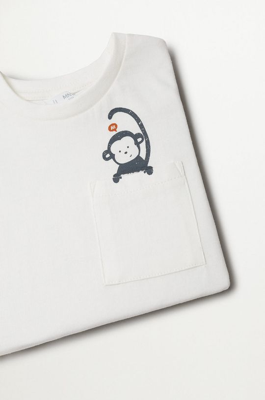 biały Mango Kids - T-shirt dziecięcy Amelio 80-104 cm