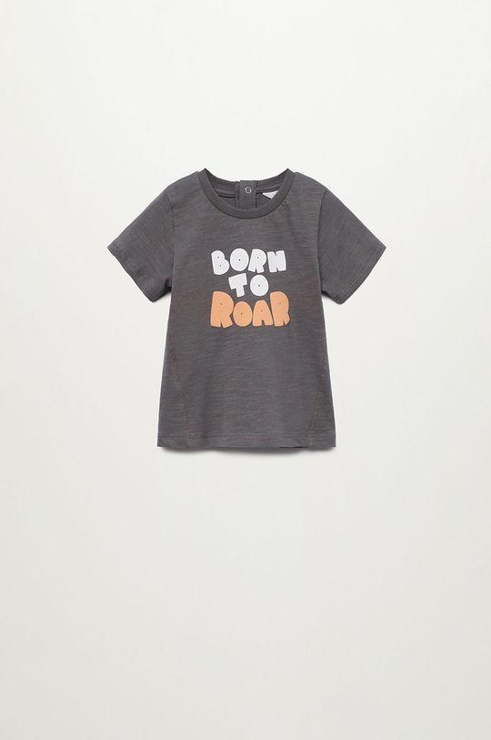 szary Mango Kids - T-shirt dziecięcy Luis 80-104 cm Chłopięcy