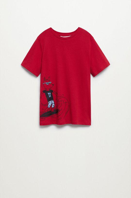czerwony Mango Kids - T-shirt dziecięcy Coco8 110-152 cm Chłopięcy