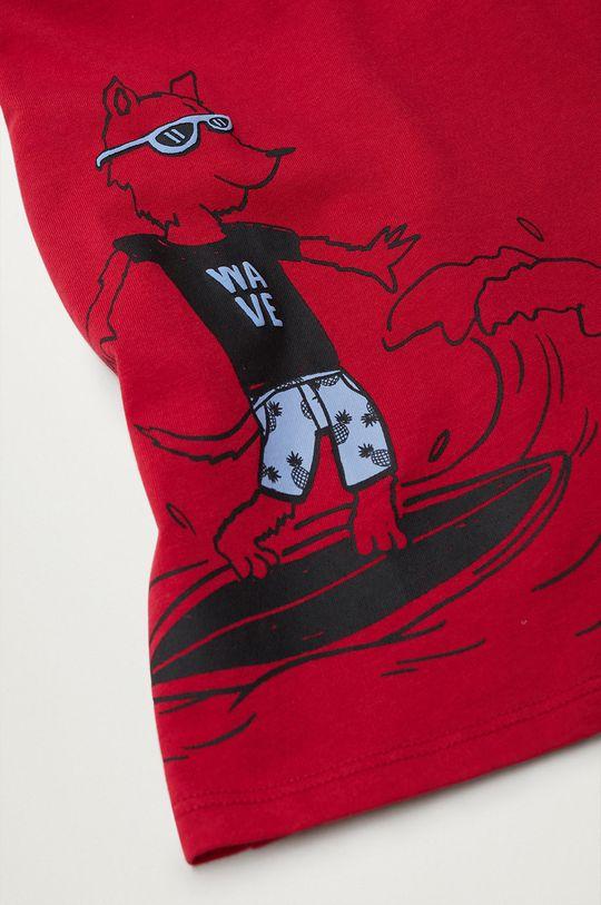Mango Kids - T-shirt dziecięcy Coco8 110-152 cm czerwony