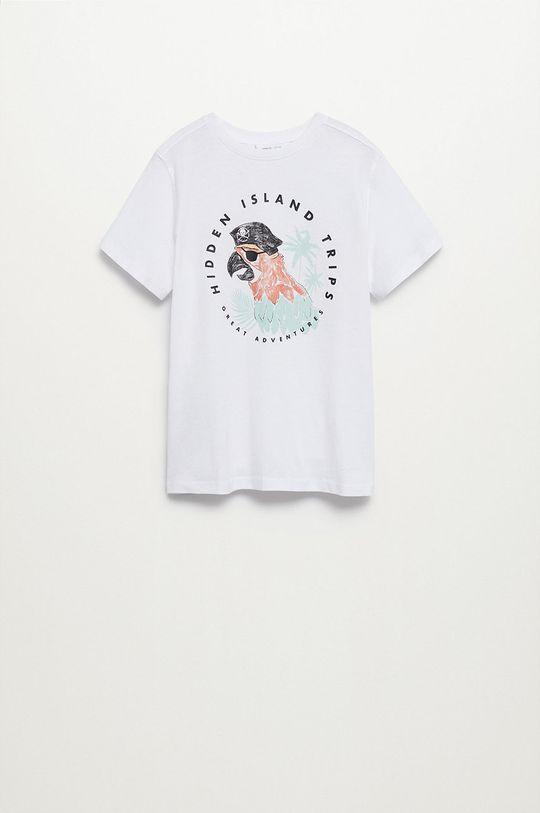biały Mango Kids - T-shirt dziecięcy Loro 110-164 cm Chłopięcy