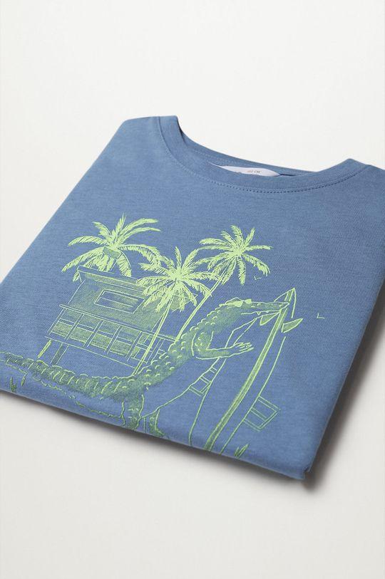 Mango Kids - Detské tričko Florida 110-164 cm modrá