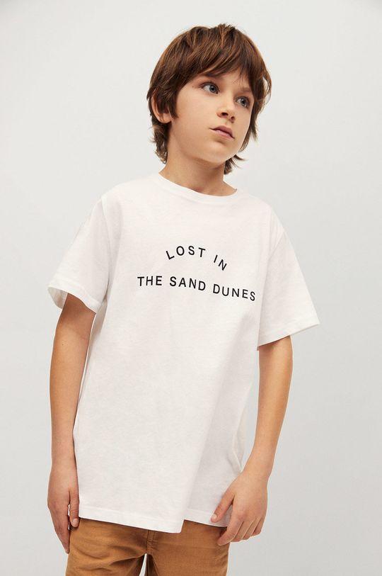 biały Mango Kids - T-shirt dziecięcy Sand 116-164 cm Chłopięcy