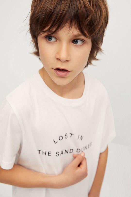 Mango Kids - T-shirt dziecięcy Sand 116-164 cm biały