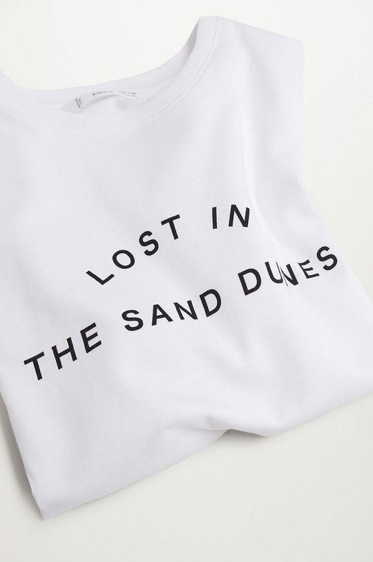 biały Mango Kids - T-shirt dziecięcy Sand 116-164 cm