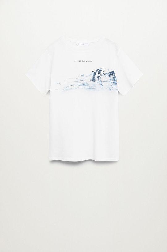 biały Mango Kids - T-shirt dziecięcy SURFER Chłopięcy
