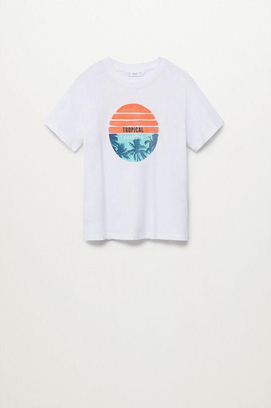 biały Mango Kids - T-shirt dziecięcy FLO Chłopięcy