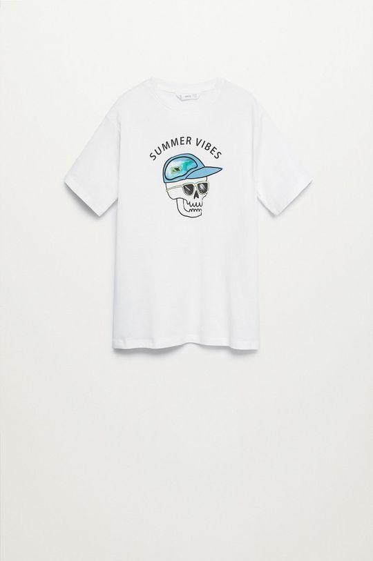 biały Mango Kids - T-shirt dziecięcy LENTI Chłopięcy
