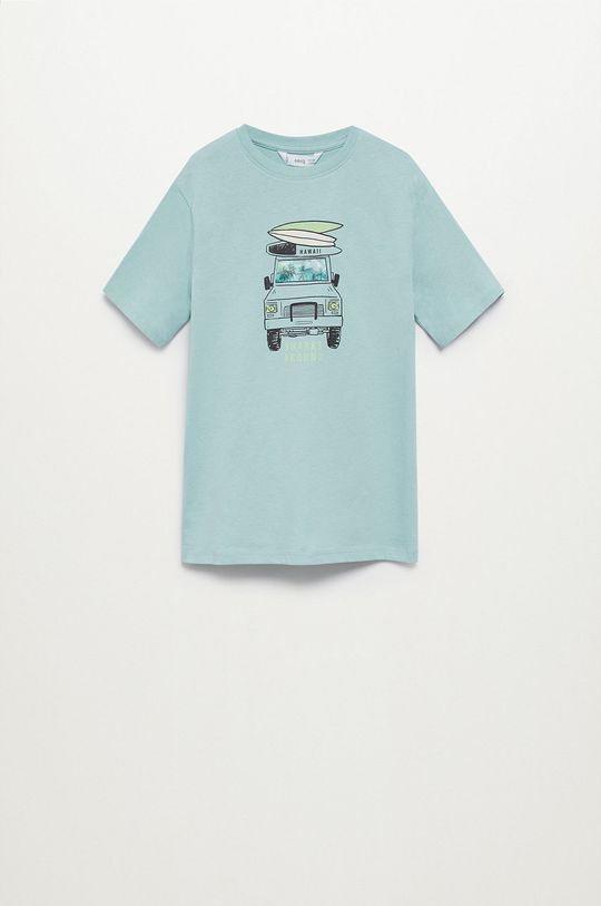 zielony Mango Kids - T-shirt dziecięcy LENTI Chłopięcy