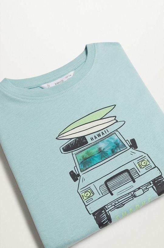 Mango Kids - T-shirt dziecięcy LENTI zielony