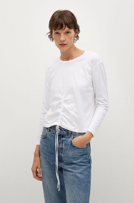 bílá Mango - Tričko s dlouhým rukávem STAR Dámský