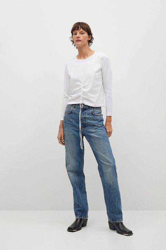 Mango - Tričko s dlouhým rukávem STAR bílá
