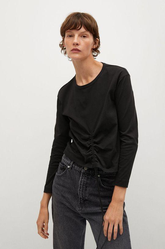 čierna Mango - Tričko s dlhým rukávom STAR Dámsky