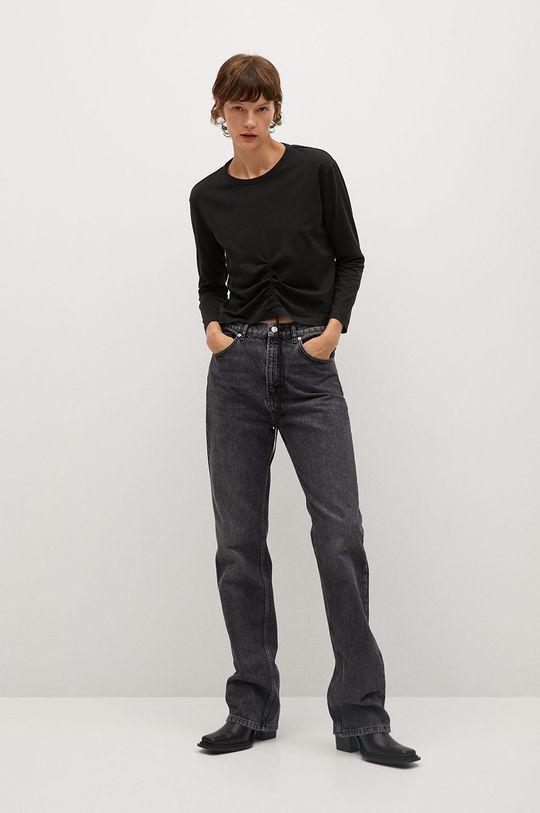 Mango - Tričko s dlhým rukávom STAR čierna