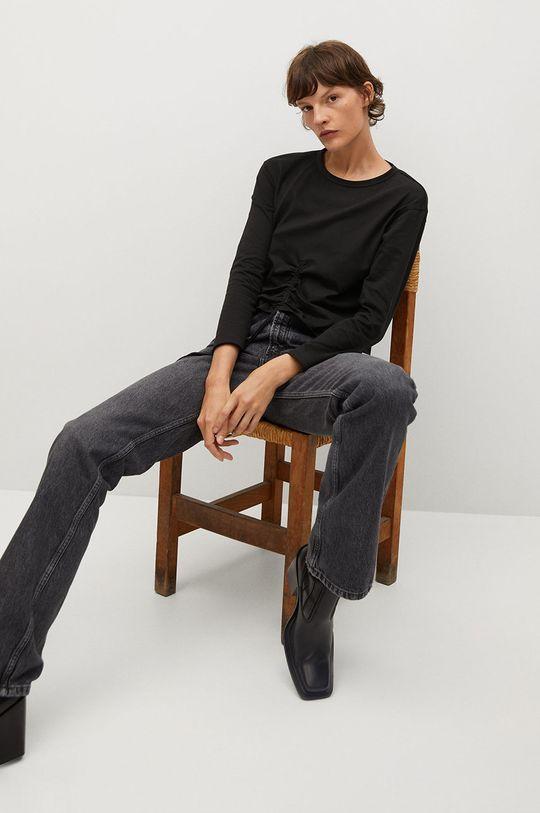 čierna Mango - Tričko s dlhým rukávom STAR