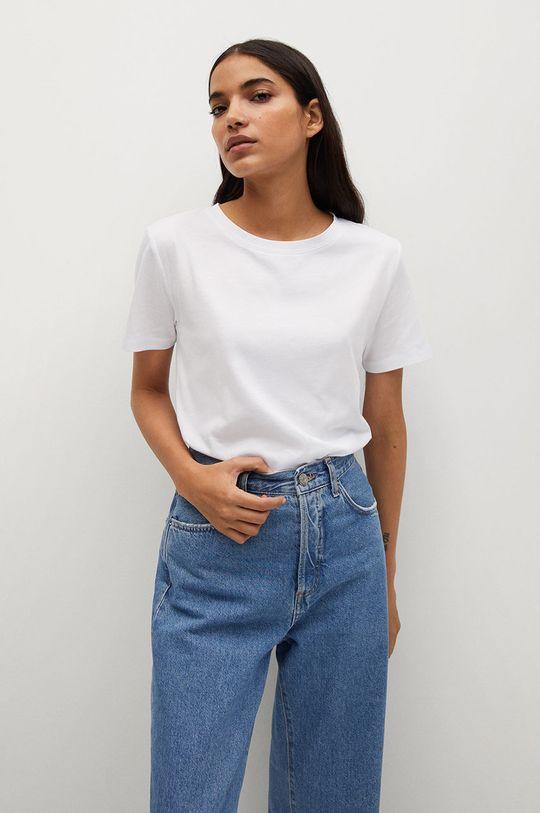 biały Mango - T-shirt Chalaca Damski
