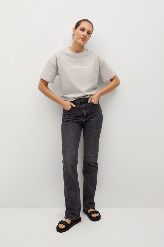 Mango - T-shirt Pstbig jasny szary