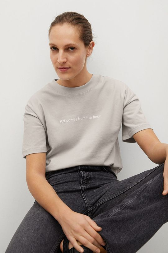 Mango - T-shirt Pstbig Damski