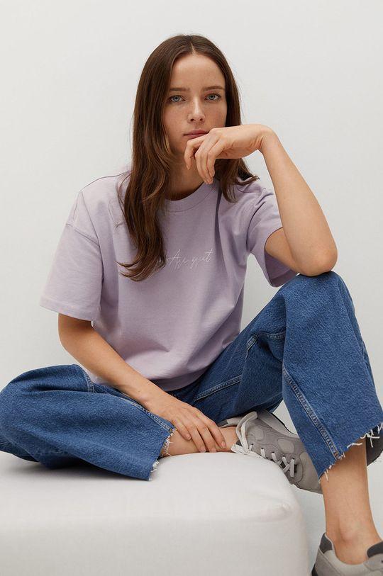 fioletowy Mango - T-shirt Pstbig