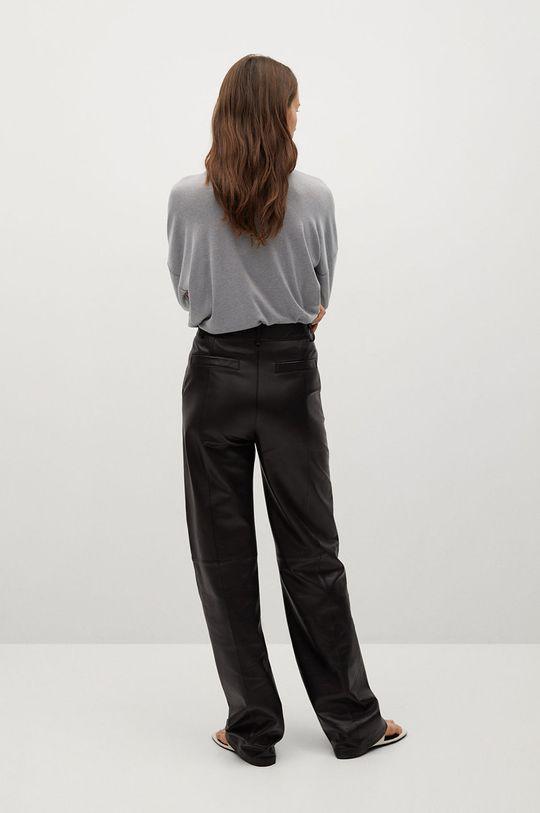 Mango - Tričko s dlouhým rukávem CAMILA  3% Elastan, 34% Viskóza, 63% Recyklovaný polyester