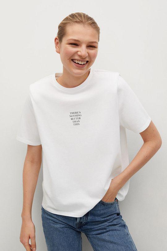 bílá Mango - Tričko PSTPADO Dámský