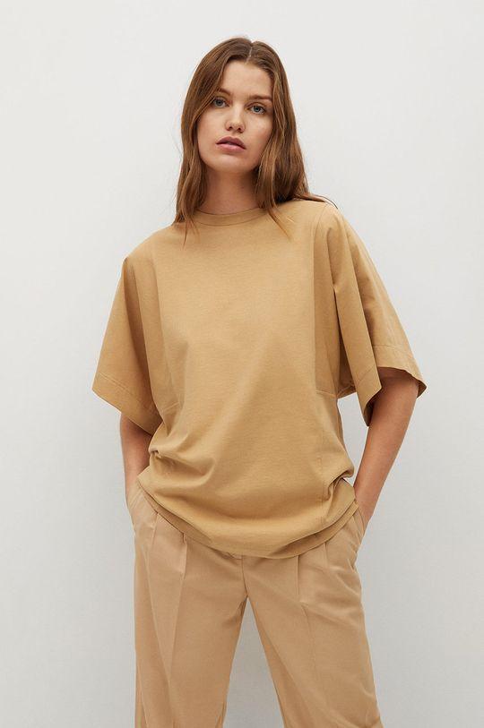 hnedá Mango - Tričko LUPE Dámsky