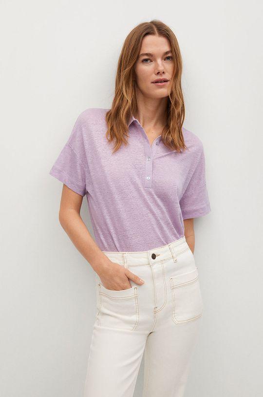 fialová Mango - Polo tričko LIPO Dámsky