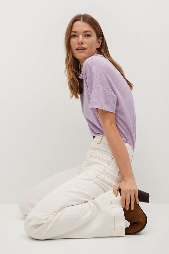 fialová Mango - Polo tričko LIPO