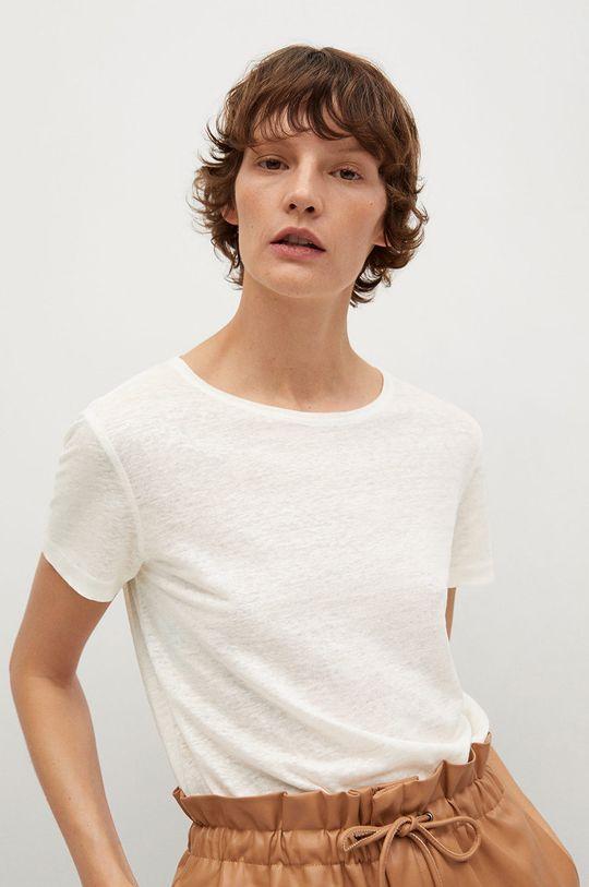 biały Mango - T-shirt LISINO Damski