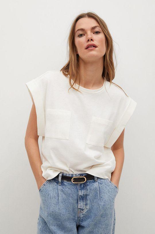 biały Mango - T-shirt ANIE Damski