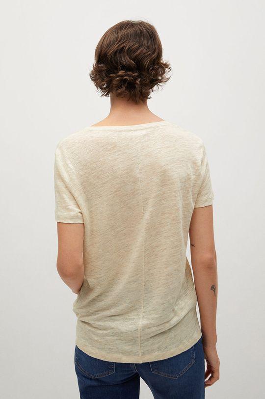 Mango - T-shirt Linito 100 % Len