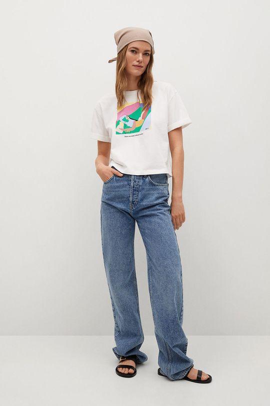 Mango - T-shirt Pswoman3 biały