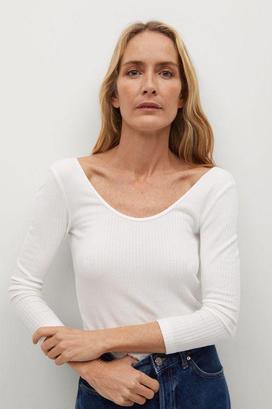 bílá Mango - Tričko s dlouhým rukávem BAILE Dámský