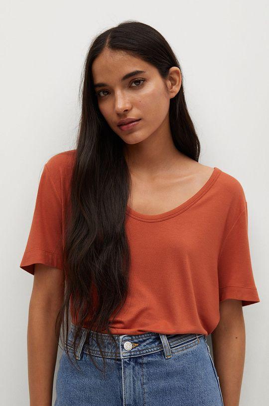pomarańczowy Mango - T-shirt Visca Damski