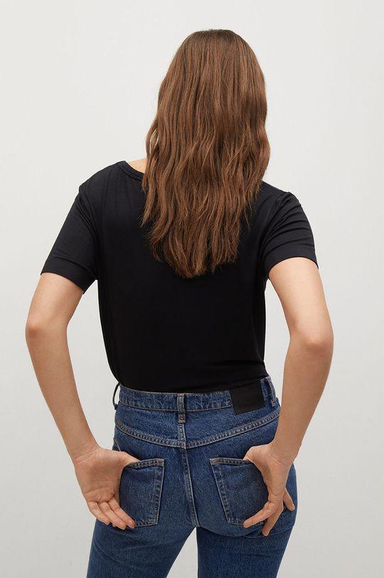Mango - T-shirt Visca 4 % Elastan, 96 % Wiskoza