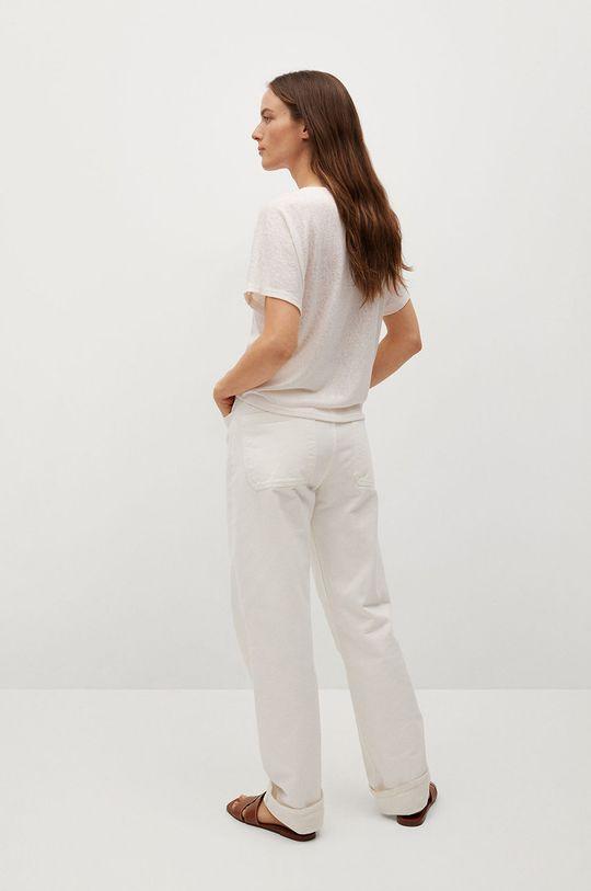 Mango - T-shirt Furni 46 % Poliester, 54 % Wiskoza