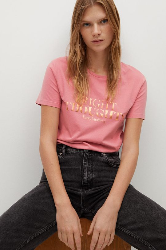 czerwony Mango - T-shirt Psmate Damski