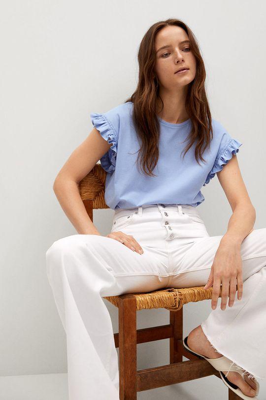 modrá Mango - Tričko JENNIFER Dámsky