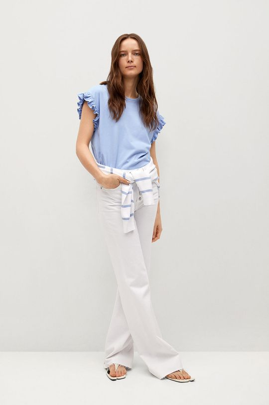 Mango - Tričko JENNIFER modrá