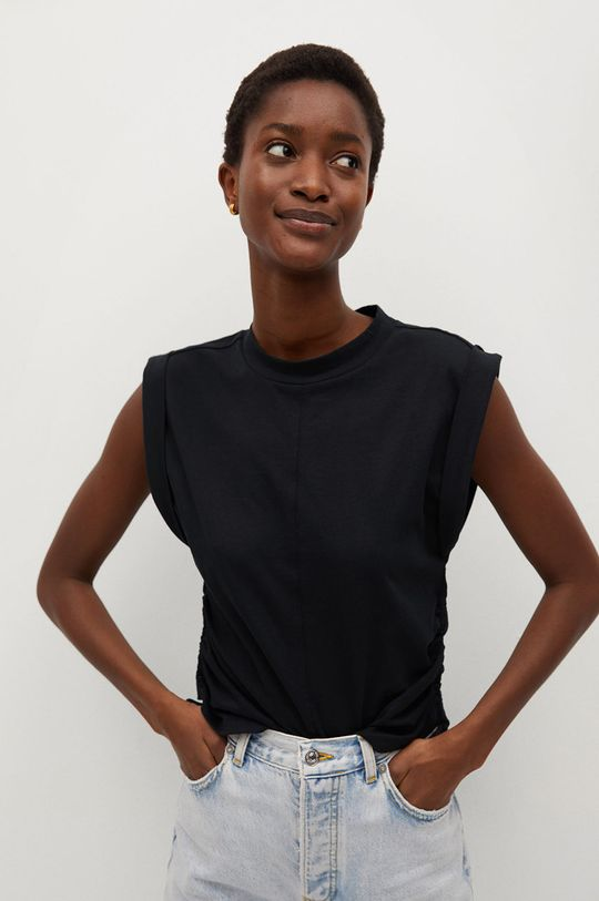 czarny Mango - T-shirt ARIANA Damski