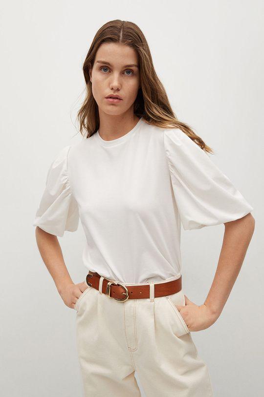 biały Mango - T-shirt Palomita Damski