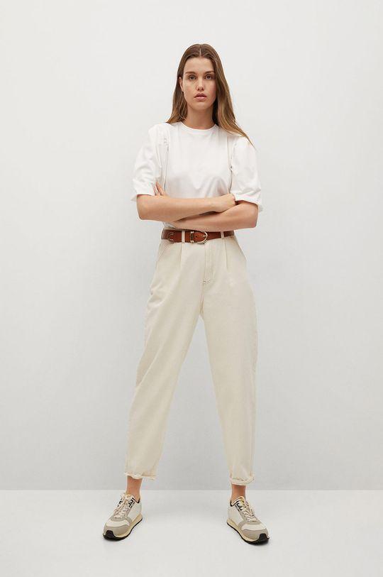 Mango - T-shirt Palomita biały