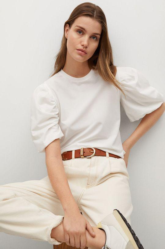 biały Mango - T-shirt Palomita