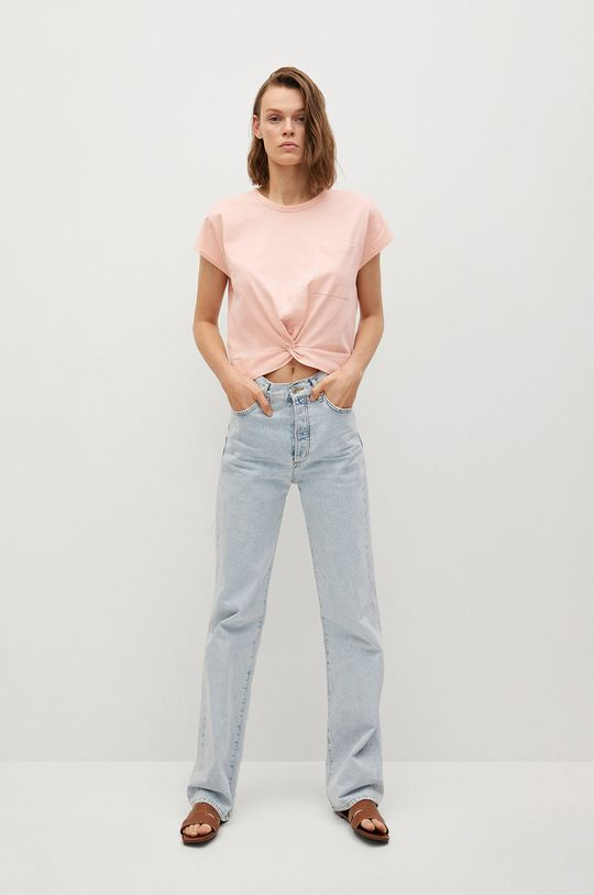 Mango - Tričko NOT ružová